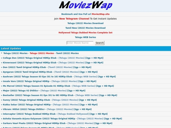 Website Moviezwap.org SEO Analysis